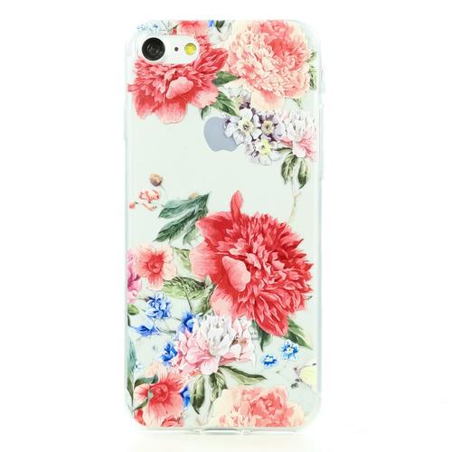 Накладка силиконовая BoraSCO ArtWorks iPhone 7/8 Красные пионы