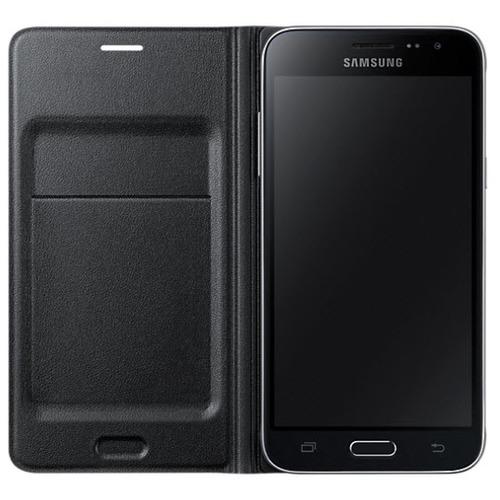 Чехол - книжка Samsung Flip Wallet Galaxy J3 (2016) (EF-WJ120PBEGRU) Black фото 2