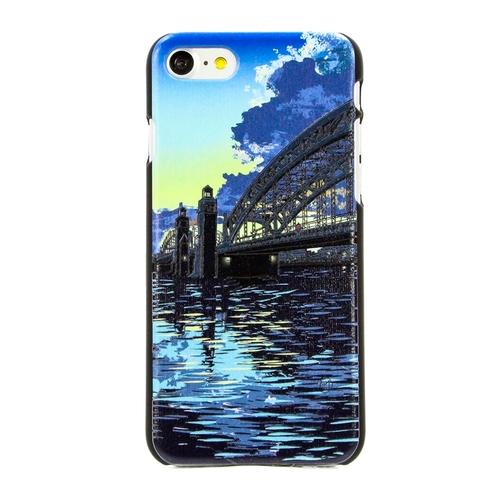 "Накладка пластиковая HAPPYTIME iPhone 7 / iPhone 8 ""Большеохтинский мост"""