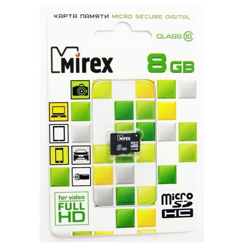 Карта памяти на 8 Гб Mirex microSD (class 10)