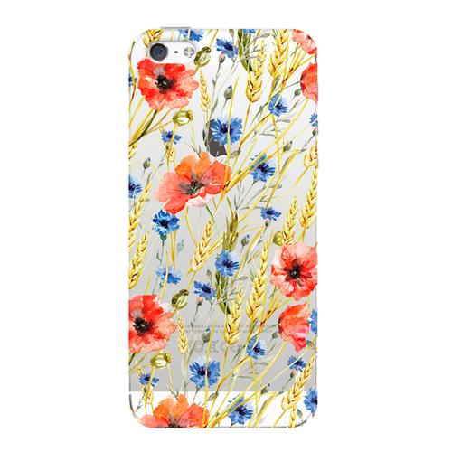 Накладка пластиковая Deppa Art Case iPhone 5/5S/SE Flowers Пшеница