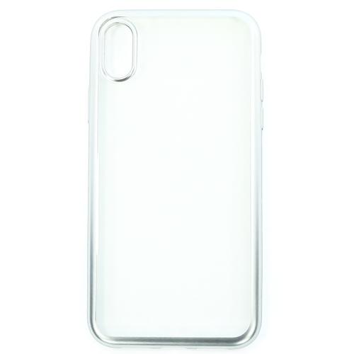 Накладка силиконовая uBear Frame Tone Case iPhone XR Silver