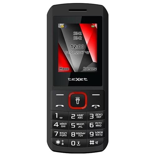 Телефон Texet TM-127 Black Red