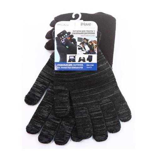 Перчатки Belsis для сенсорных устройств L Grey