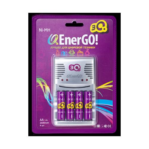 Зарядное устройство для батареек 3Q EnerGO C46 +4AA 2400mAh фото