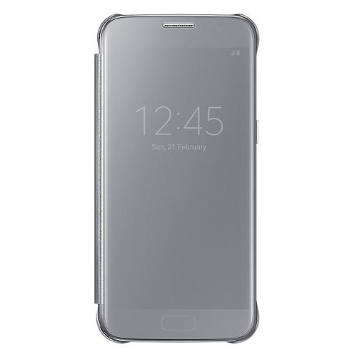 Чехол-книжка Samsung Clear View Standing Cover Galaxy S7 (EF-ZG930CSEGRU) Silver