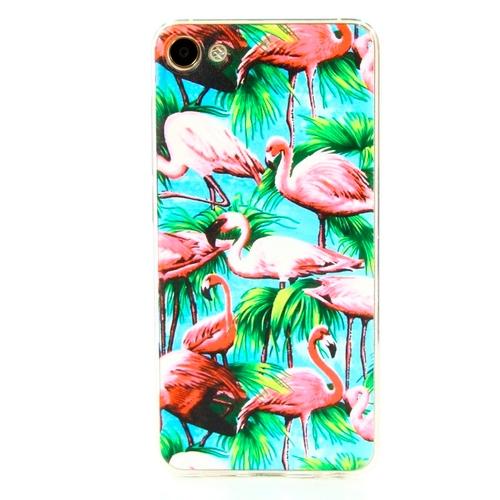Накладка силиконовая Goodcase Meizu U10 Розовый фламинго