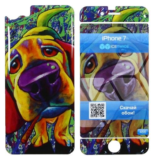 Наклейка силиконовая IceTwice iPhone 7 / iPhone 8 Собака №466