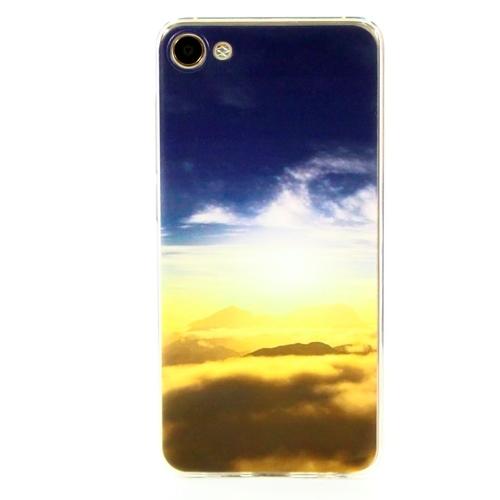 Накладка силиконовая Goodcase Meizu U10 Горы в облаках