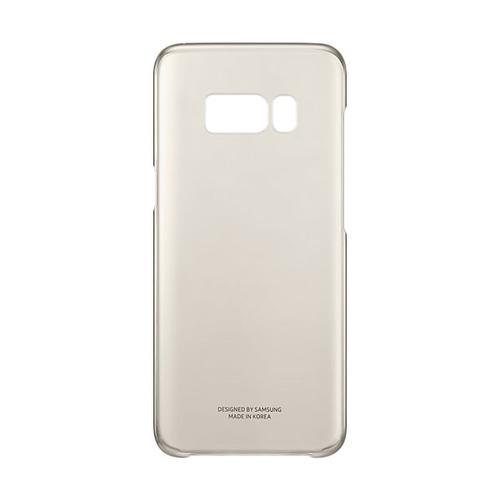 Накладка пластиковая Samsung Clear Galaxy S8 (EF-QG950CFEGRU) Gold