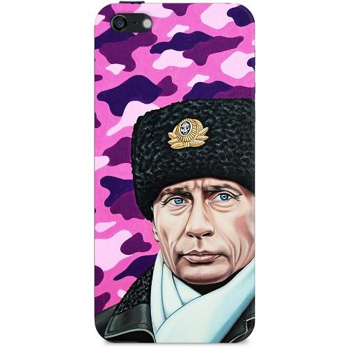 Накладка пластиковая Deppa Art Case iPhone 5/5S Person Путин Шапка