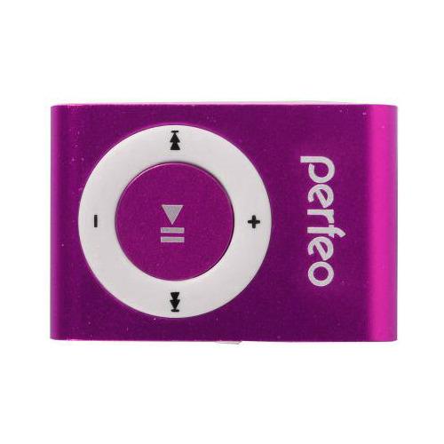 Плеер Mp3 Perfeo/Hilp Music Clip Titanium C2, Pink