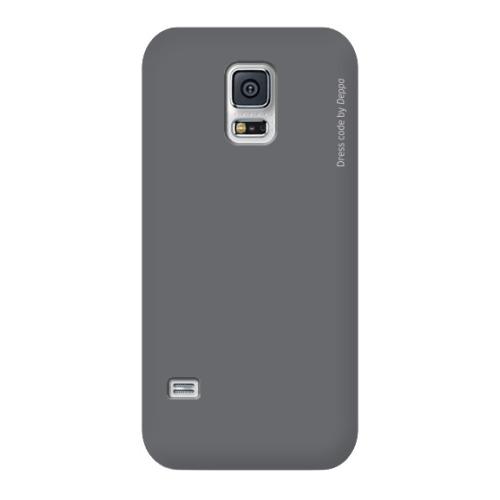 Накладка пластиковая Deppa Air Case Samsung G800 Galaxy S5mini Grey