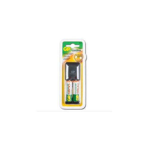 Зарядное устройство для батареек GP PowerBank PB330 +2AA 1600mAh
