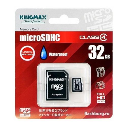 Карта памяти на 32 Гб Kingmax microSD (сlass 4) фото