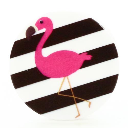 Держатель Goodcom для смартфонов PopSocket Розовый фламинго (N97)