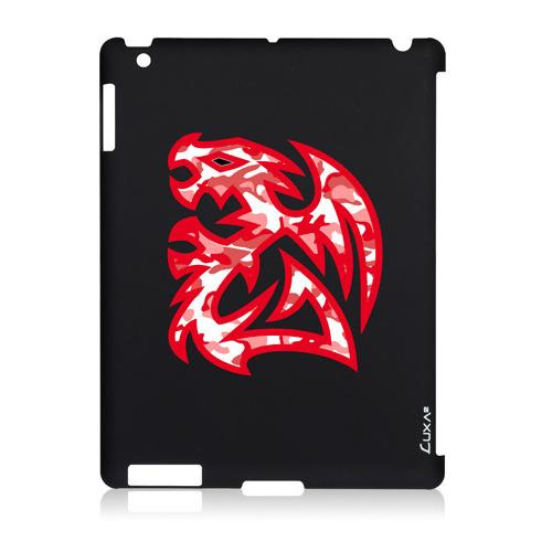 Накладка пластиковая Luxa2 iPad 2/3/4 Tough Battle Dragon черный