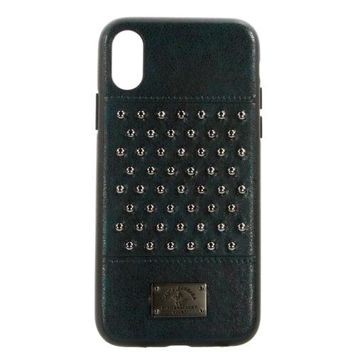 Накладка кожаная Staccato для iPhone X Green