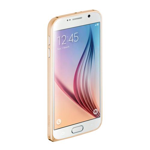 Бампер Deppa Alum для Samsung G920 Galaxy S6 и плёнка Gold