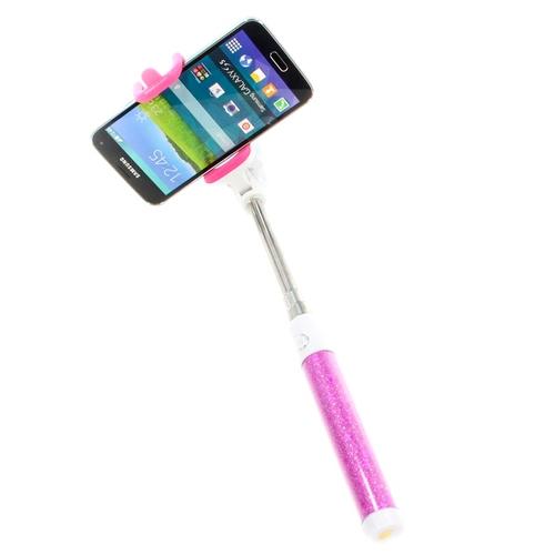 Монопод для селфи Goodcom Stars (со шнурком 3.5mm) Pink