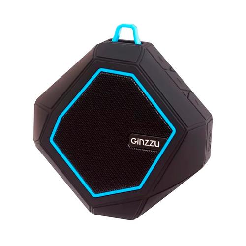 Колонка Ginzzu Bluetooth GM-871B 6W/TF/AUX/FM/waterproof-IPX4