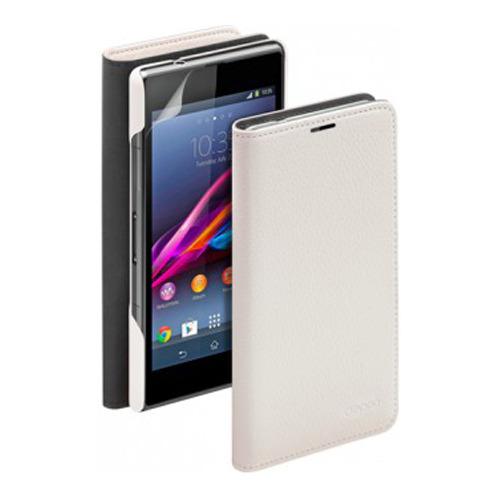 Чехол-книжка Deppa Wallet Cover и защитная пленка Sony Xperia Z1 Compact White