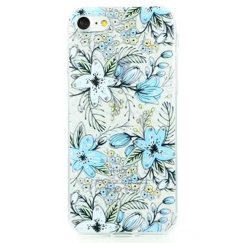 Накладка силиконовая BoraSCO ArtWorks iPhone 7/8 Васильки