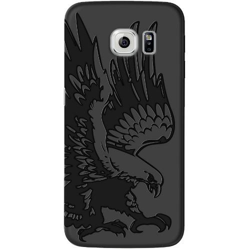 Накладка пластиковая Deppa Art Case Samsung Galaxy S7 Black Коршун