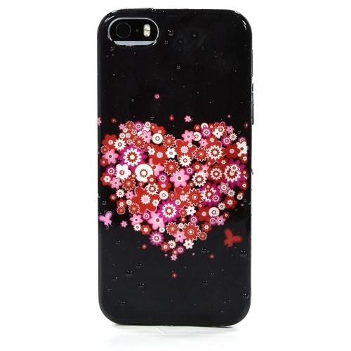 Накладка силиконовая iPhone 5/5S Сердце (SDST)