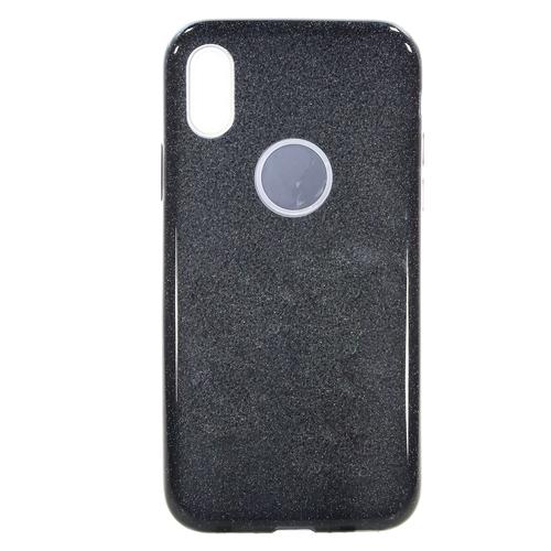 Накладка силиконовая Fashion Case Iphone X Shining 2 in 1 Black