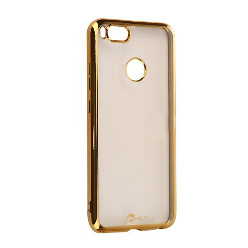 Накладка силиконовая skinBox chrome Xiaomi Mi5X/Mi A1 Gold