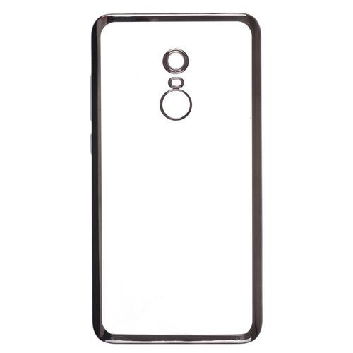 Накладка силиконовая skinBox chrome Xiaomi Redmi Note 4 Dark Silver
