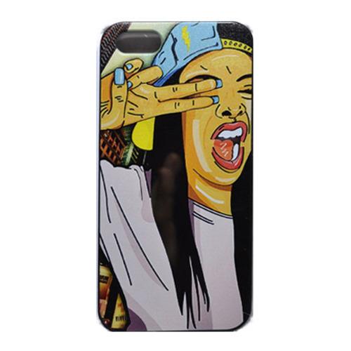 Накладка пластиковая QRCase iPhone 4/4S Swag N306B