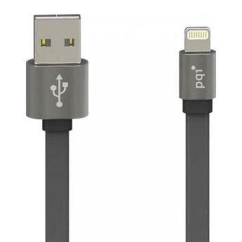 USB кабель PQI i-Cable Metallic 100 MFI Apple 8-pin 1м Silver фото