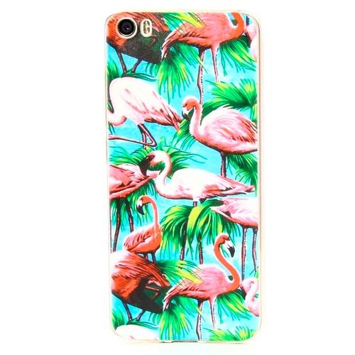 Накладка силиконовая Goodcase Xiaomi Mi5 Розовый фламинго