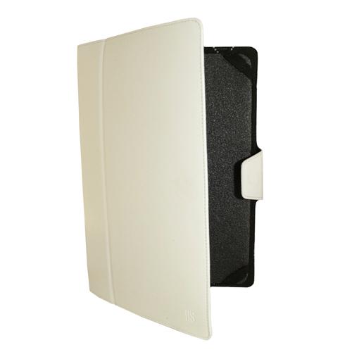 """Чехол-книжка InterStep Vels р3N 10"""" для эл. устройств кожаный белый"""