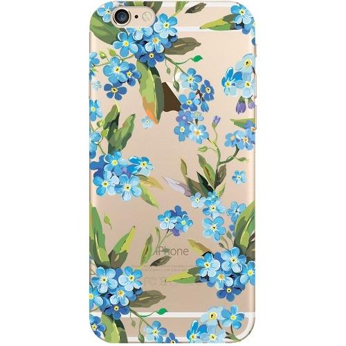 Накладка пластиковая Deppa Art Case iPhone 6/6S Flowers Незабудка