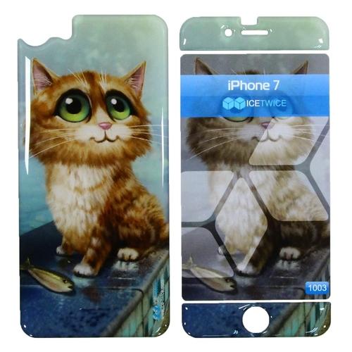 Наклейка силиконовая IceTwice iPhone 7 / iPhone 8 Котик №1003
