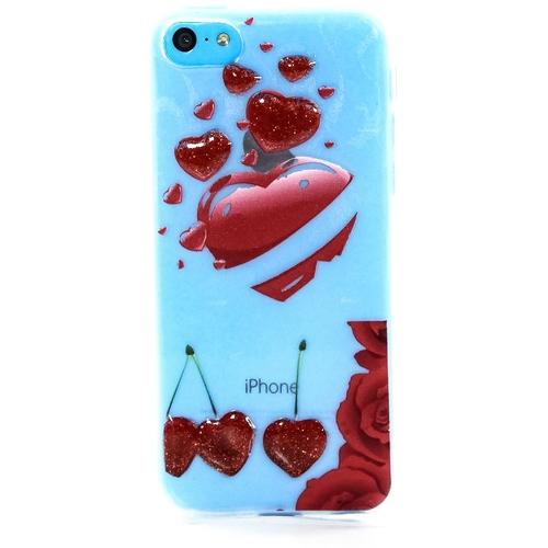 Накладка силиконовая iPhone 5C Cherry (DJ)