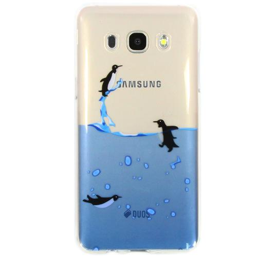 Накладка силиконовая Goodcase Samsung J5 (2016) Пингвины