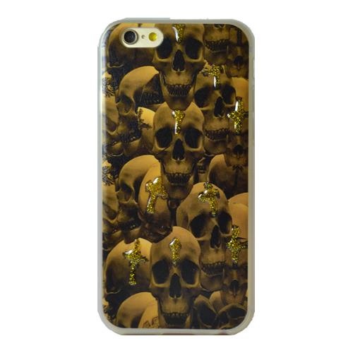 Накладка силиконовая iPhone 5/5S Черепа (DJ)