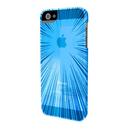 Накладка силиконовая Muvit iPhone 5/5S Minigel Flexy Speedlight Blue