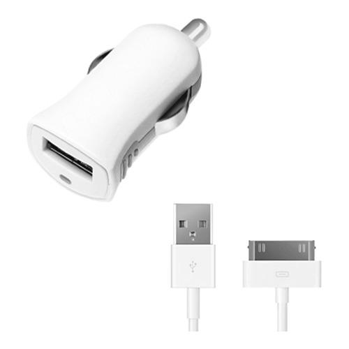 Автомобильное зарядное устройство Deppa Prime Line Apple 30-pin 2100mAh White