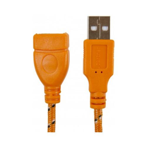 Удлинитель USB-USB 5 метров, Partner, Orange