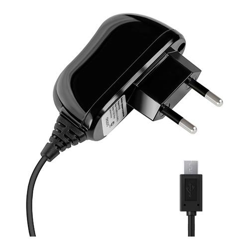Сетевое зарядное устройство Deppa micro USB 1000mAh Black
