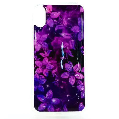 Накладка силиконовая IceTwice iPhone X Purple flowers №1195