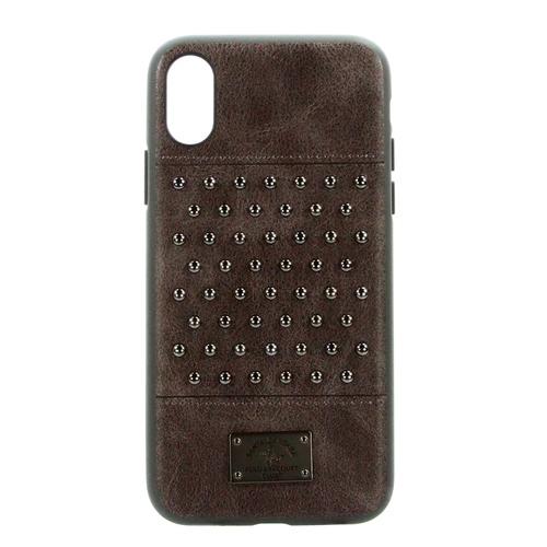 Накладка кожаная Staccato для iPhone X Brown