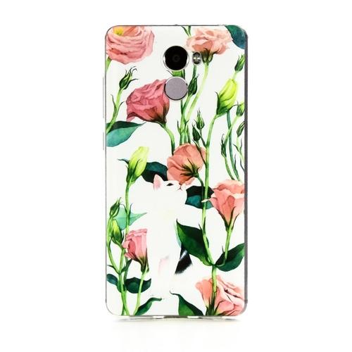 Накладка силиконовая Goodcase Xiaomi Redmi 4 Кот в цветах