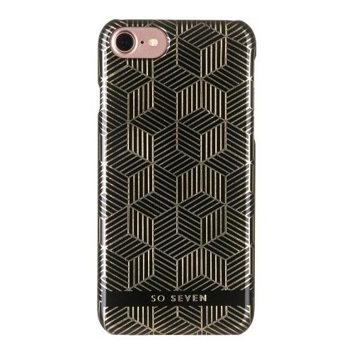 Накладка пластиковая So Seven iPhone 7 / iPhone 8 Midnight Cubic Noir