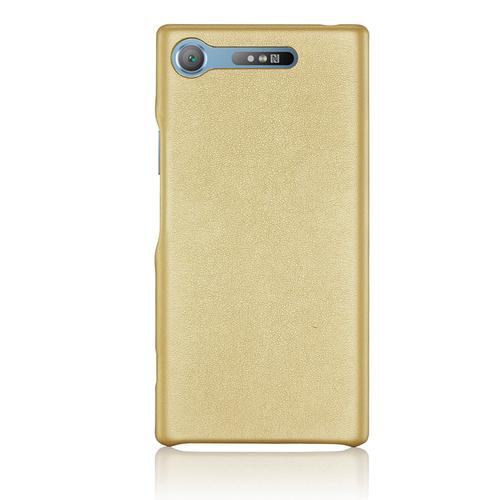 Накладка кожаная G-Case Slim Premium для Sony Xperia XZ1 Gold